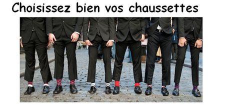 Choisissez bien vos chaussettes Messieurs les pantolans sont courts