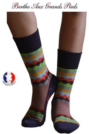Chaussettes Berthe aux grands pieds femme Maison des couleurs face