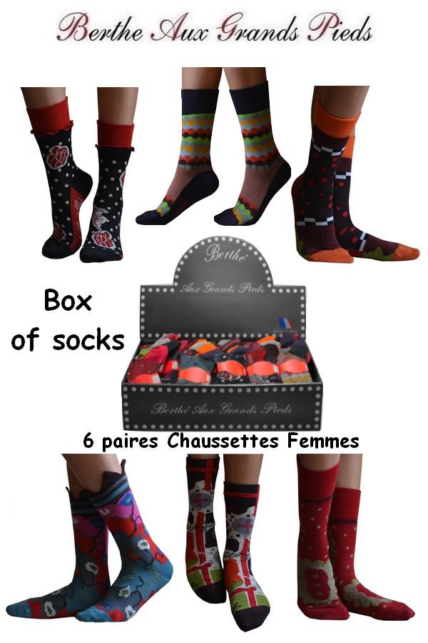 Box de Chaussettes Berthe aux grands pieds femme hiver