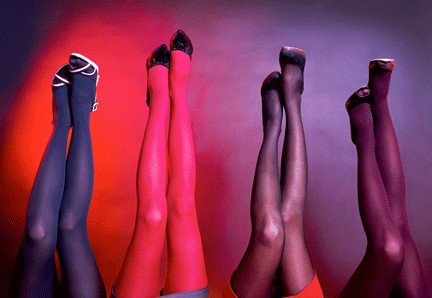 Collants de couleurs fins