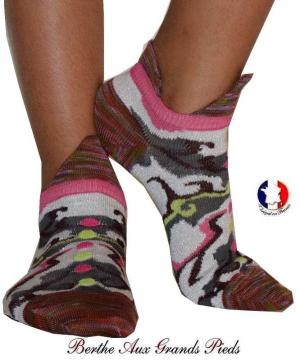 Socquette-Berthe-aux-grands-pieds-fil-camo-rose