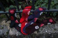 Assortiments de chaussettes bouquets de roses
