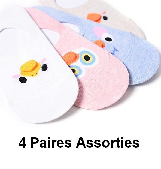 Socquettes_sport-ANTI-glisse-ASSORTIMENT--OISEAU-4PAIRES