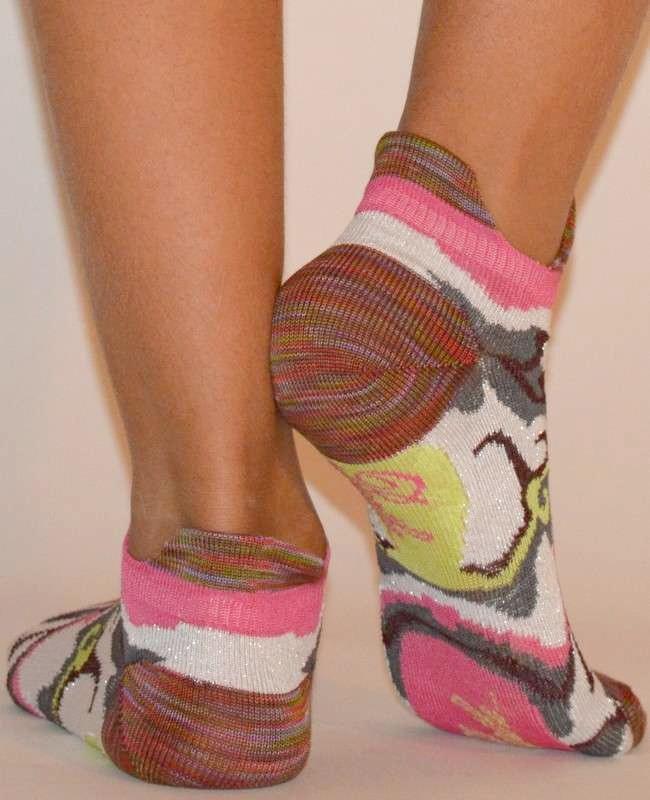 Socquette-Berthe-aux-grands-pieds-fil-camouflage-rose-dos